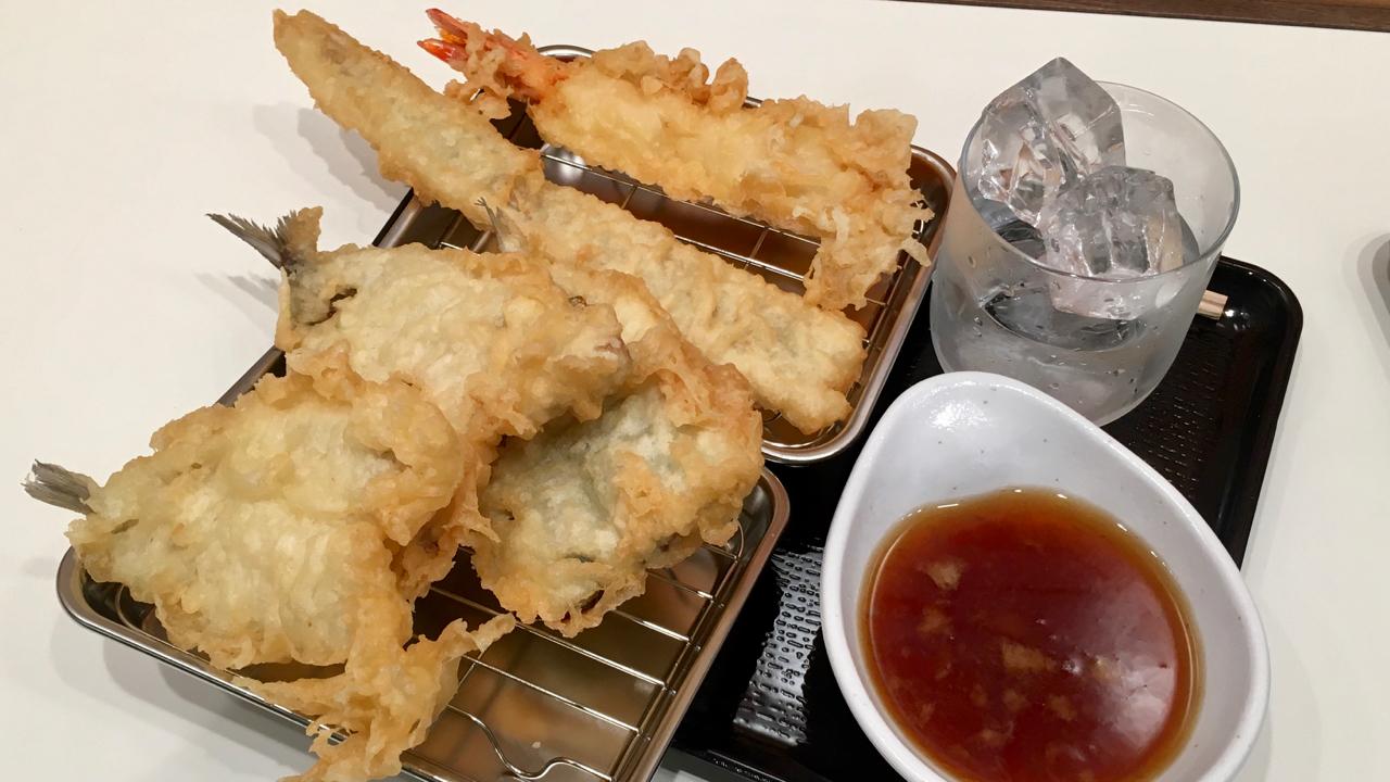 天ぷら五品盛り