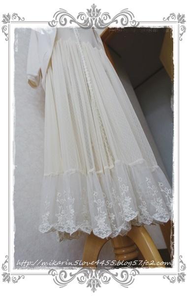0622ロングジレセットカーデ(生成り)裾