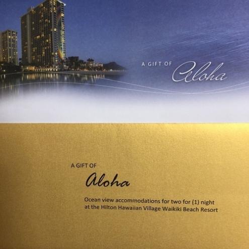 ヒルトンハワイアンビレッジワイキキビーチ宿泊券