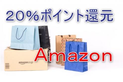 Amazonで20%ポイント還元