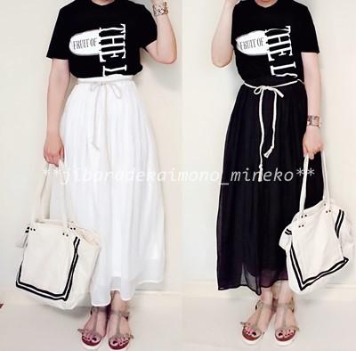白黒スカート5