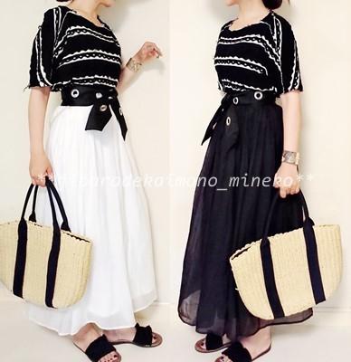 白黒スカート2