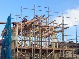 建築工事中
