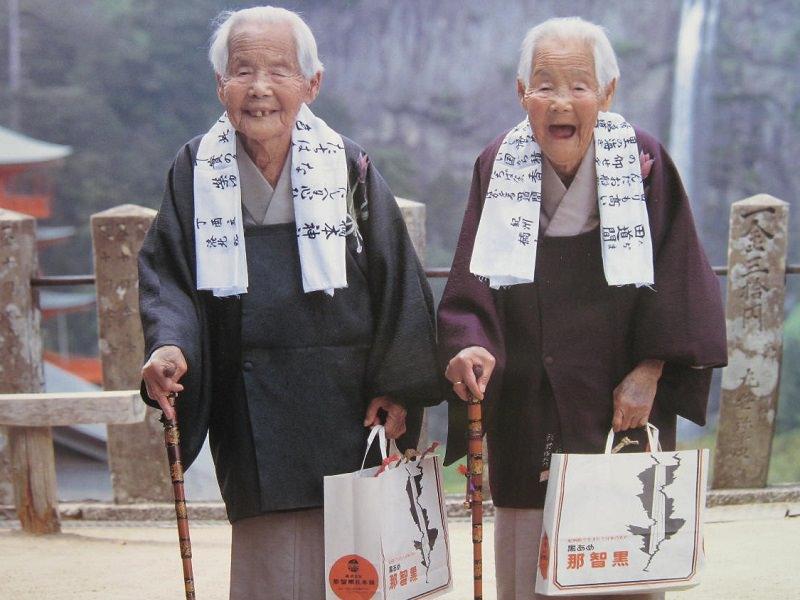 100年以上生きた双子の姉妹として有名な「きんさん」「ぎんさん」