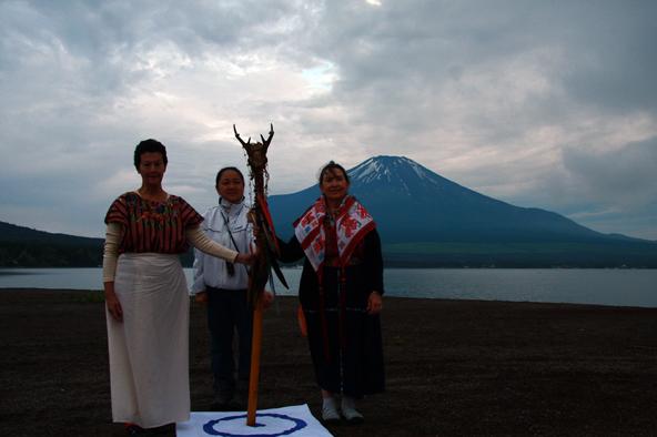 杖と富士山