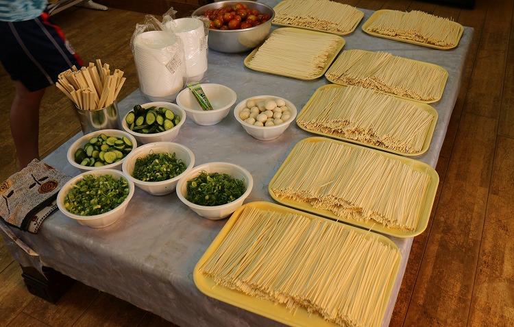 素麺流しの材料準備 30 7 25