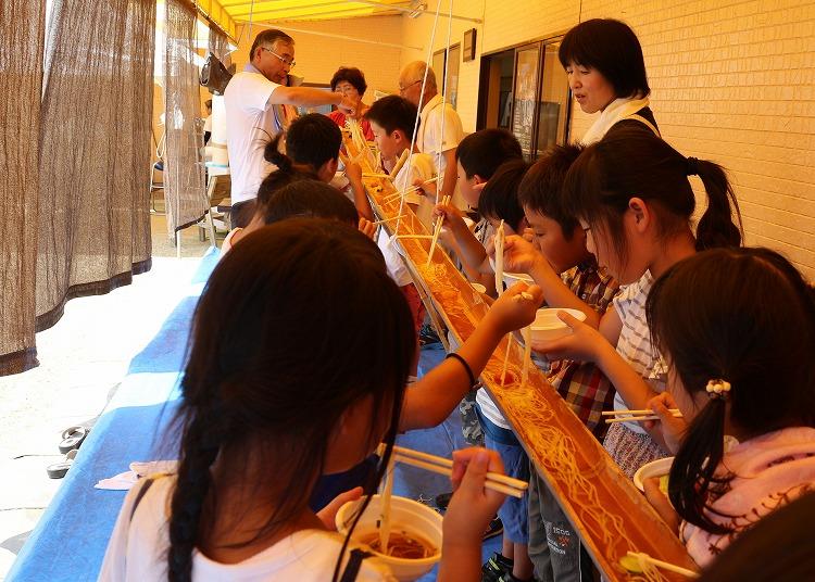 小学生用の素麺流し 30 7 25