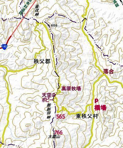 地図 高原牧場