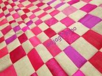ピンクとグレー 四角繋ぎ チョガッポ