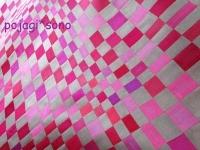 ピンク&グレー 四角繋ぎ チョガッポ