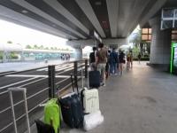 済州空港 タクシー行列