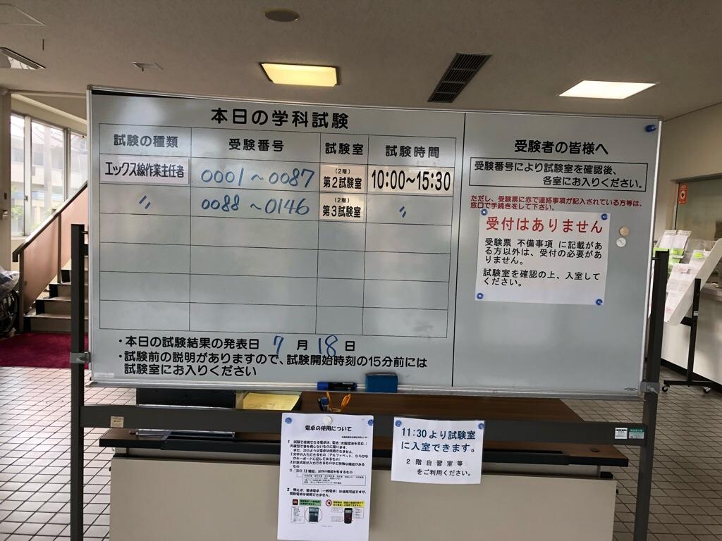 作業 者 エックス線 日 主任 試験