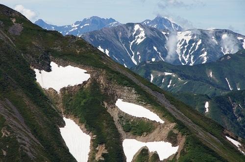 09e唐松岳より前穂高岳、奥穂高岳、蓮華岳、槍ヶ岳