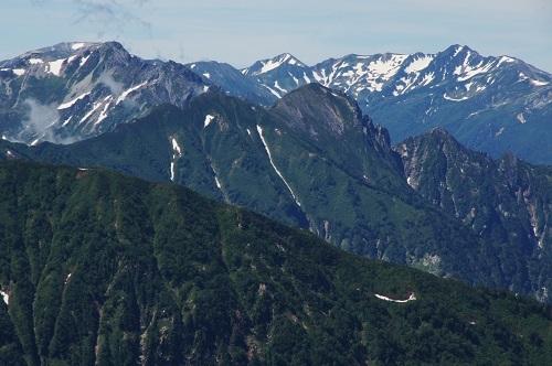 09d 唐松岳より針ノ木岳、鷲羽岳、スバリ岳、水晶岳
