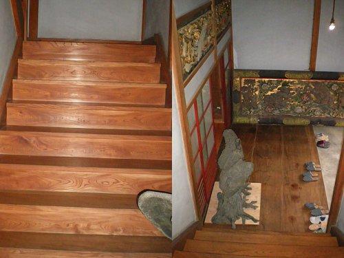旧小林新古美術店・階段