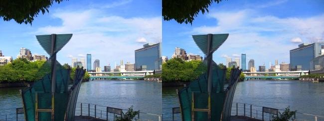 中之島公園 剣先噴水②(交差法)