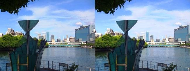 中之島公園 剣先噴水②(平行法)
