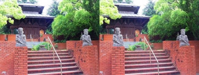 花博記念公園鶴見緑地 国際庭園 ネパール王国(交差法)