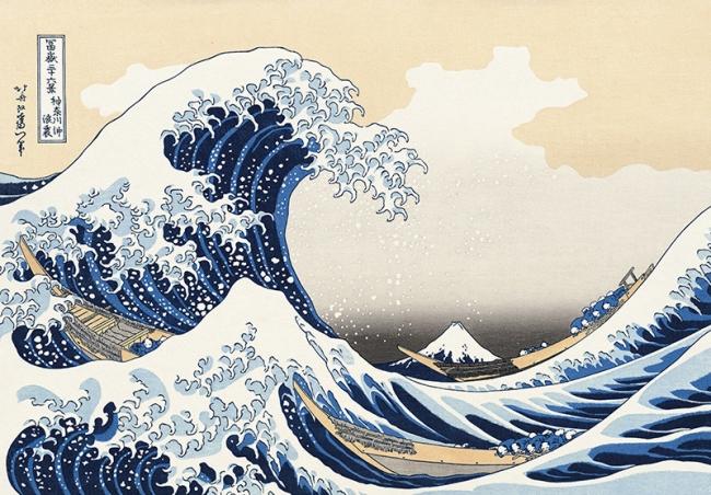 『冨嶽三十六景 神奈川沖浪裏』葛飾北斎 1823年(文政6年)