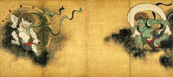 風神雷神図 尾形光琳(重要文化財 東京国立博物館蔵)