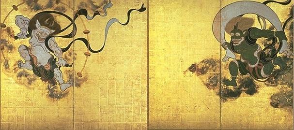 風神雷神図 俵屋宗達(国宝 建仁寺蔵(京都国立博物館に寄託))