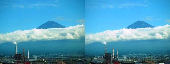 新幹線からの夏富士山(平行法)