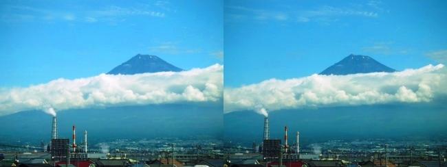 新幹線からの夏富士山(交差法)