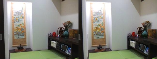 ベッドルーム 畳小上がりスペース 床の間①(平行法)