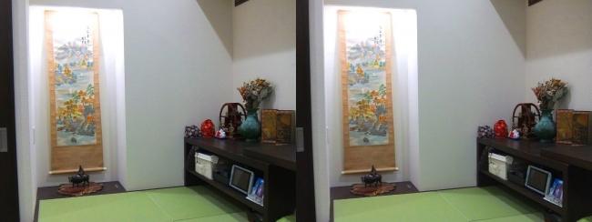 ベッドルーム 畳小上がりスペース 床の間①(交差法)