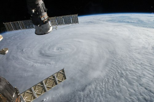 01a 500 Typhoon seen from ISS