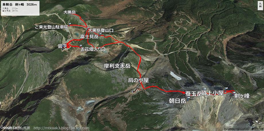 20180803乗鞍岳ルート