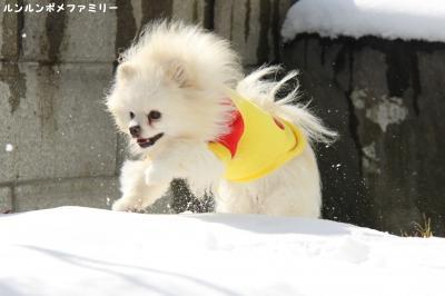 雪かきあげて