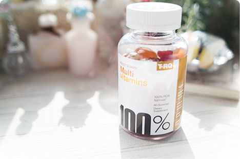 マルチビタミン グミ T.RQ, Multi Vitamins、Adult Gummy、Cherry Lemon Orange