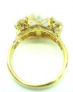 K18南洋真珠・ダイヤリング ●