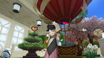 キューピッドの噴水&ハート気球のガゼボ