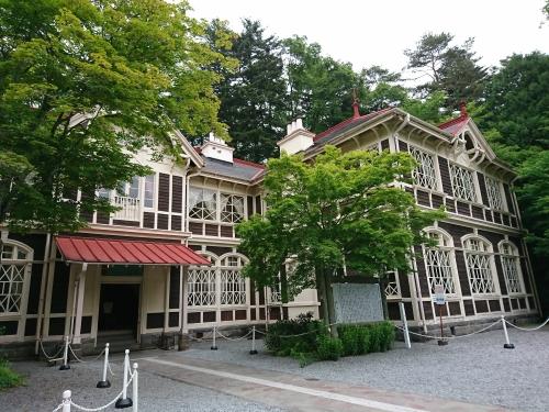 旧三笠ホテル全景