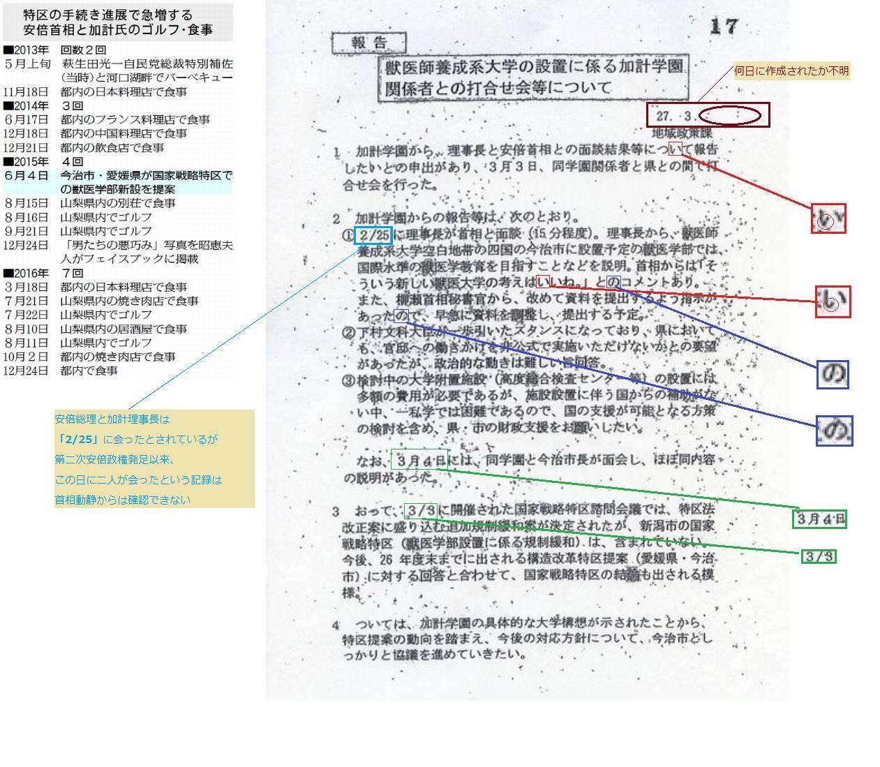 愛媛県 モリカケ 加計学園 文書 怪文書