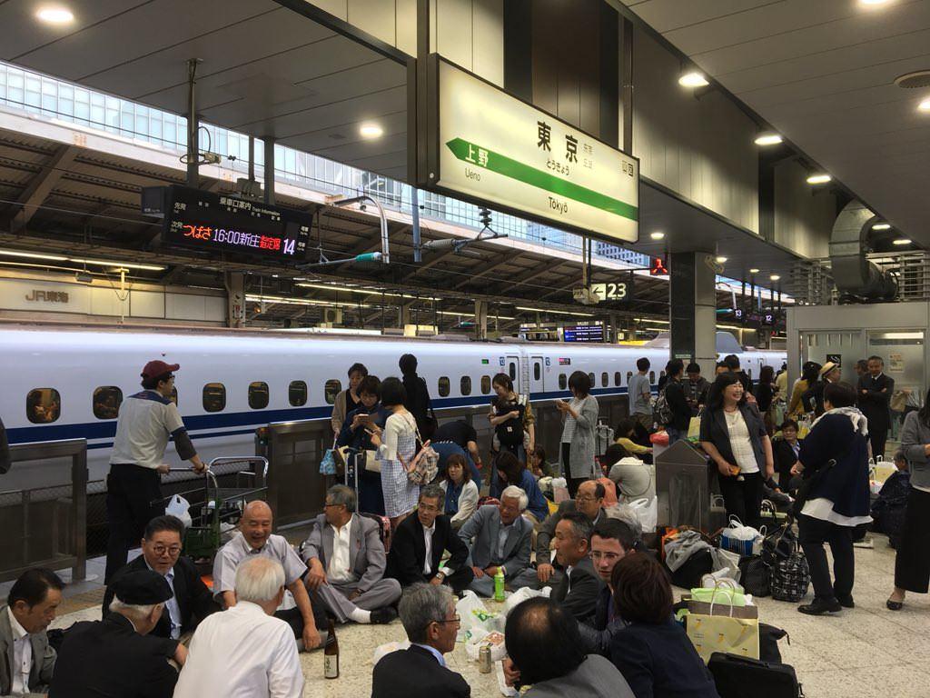 東北新幹線 東京駅 停電 宴会 ゆとり