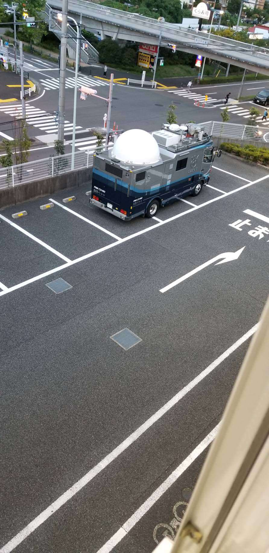 フジテレビ 中継車 多摩 無断駐車 ケーズデンキ 駐車場