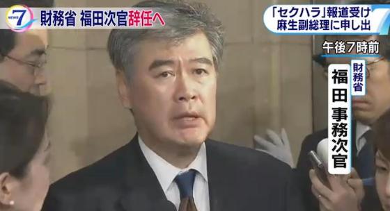 福田淳一 セクハラ 大蔵省 財務省 事務次官