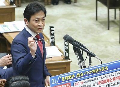 玉木雄一郎氏「犬は飼い主に似る。首相の傲慢な姿勢が隅々まで行き届いている」→ 朝日新聞、忖度して「犬」発言の部分を隠蔽し報道