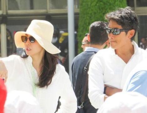 反町隆史(44)・松嶋菜々子(44)夫妻、娘の運動会で目立たないようにするも目立ってしまう(画像)