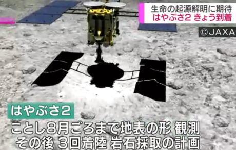 4年前に打ち上げられた小惑星探査機「はやぶさ2」、地球から3億キロ離れた小惑星「リュウグウ」に到着 … 上空から地表の観測を続けたあと、着陸して岩石を採取し地球に持ち帰る計画