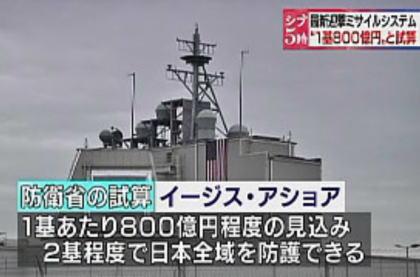 朝日新聞社説 「陸上イージスを導入することが本当に妥当なのか。安倍政権はこのまま北朝鮮の脅威を理由に防衛力強化を推し進めるつもりなのか。陸上イージスも導入の是非を含め、再考すべき時だ」