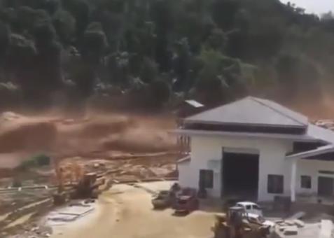 カンボジアで建設中のダムが決壊し、数百人が行方不明になっている件について、施工業者の韓国SK建設「ダムが決壊したのではない。一部が壊れて氾濫しただけだ」