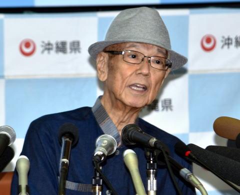 膵臓癌の治療を続けていた沖縄県の翁長雄志知事(67)、病状が回復する目途がつかず近く辞職へ … 知事の状態については「意識混濁」と説明、後任の知事選は前倒しで実施される公算
