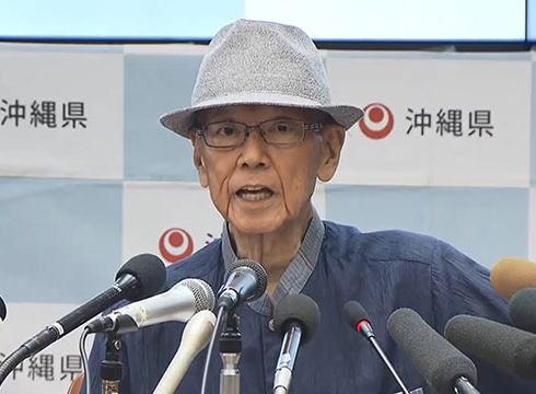 沖縄県の翁長知事死去、オール沖縄共同代表「大きなショック、沖縄の市民運動の屋台骨を失った」「安倍政権による辺野古の工事強行に殺された感じがする」