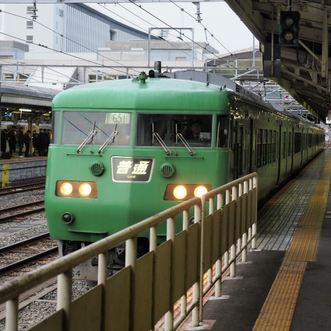 JR湖西線 117系 電車【京都駅】