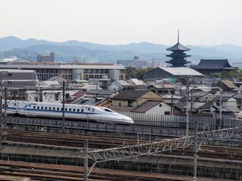 新幹線N700A&東寺