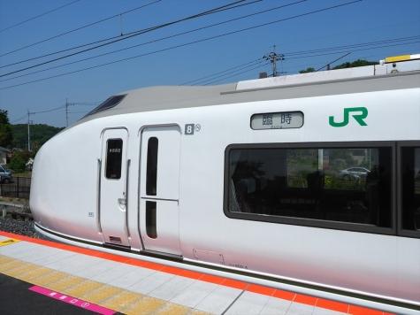 JR東日本 651系 臨時快速「足利大藤まつり号」【あしかがフラワーパーク駅】